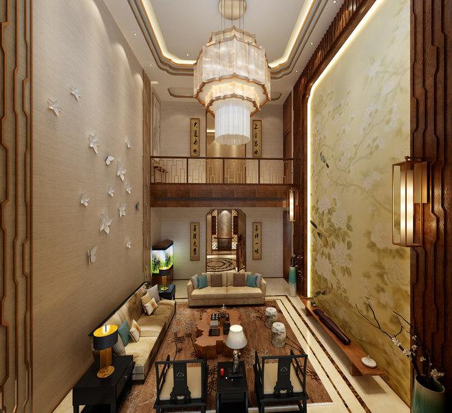 上海别墅装修禅意中式风格设计展示!