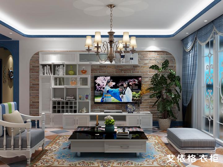 150平方地中海方格全屋定制家具装修设计
