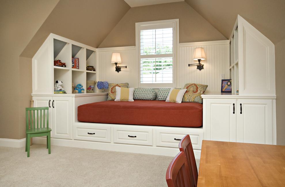 很复古的床头木板设计